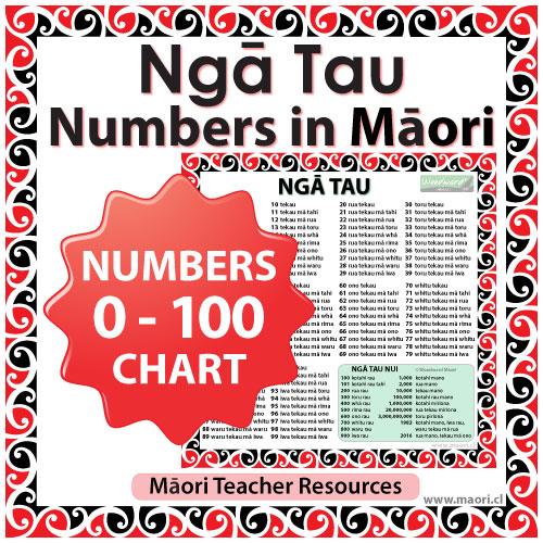 Ngā Tau - Numbers in Māori Chart - Teacher Resource