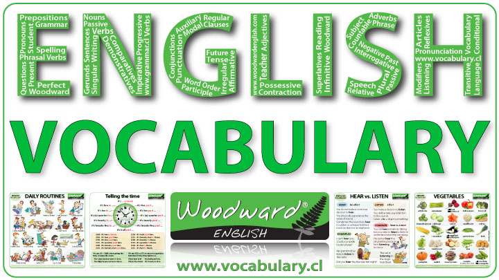 English vocabulary lessons by Woodward English