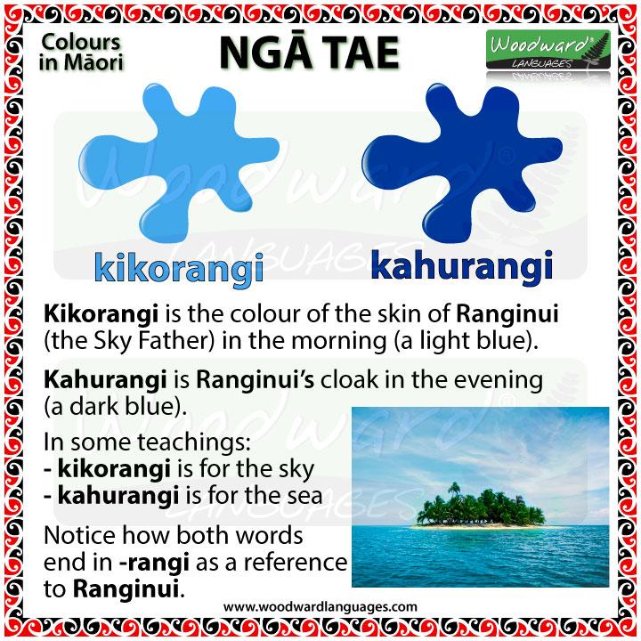 Kikorangi - Kahurangi - Blue in Māori Language