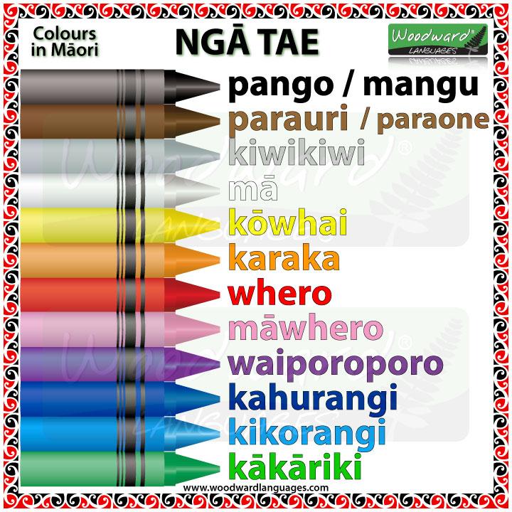 Colours in Māori - Ngā Tae