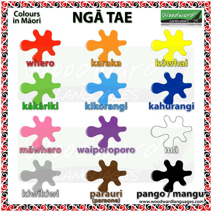 Māori Colours Vocabulary - Ngā Tae